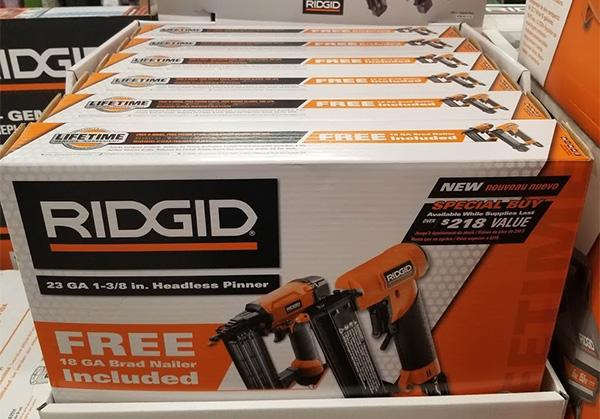 Home Depot Pro Black Friday 2019 Ridgid Air Nailer Bundle Deal