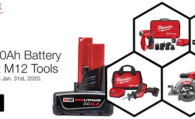Milwaukee M12 Surge Installation Drill Driver and Free Battery Offer 11-21-19