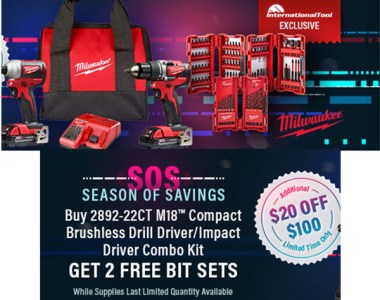 Milwaukee Pre-Black Friday M18 Brushless Drill Impact Driver Combo Kit Bundle International Tool