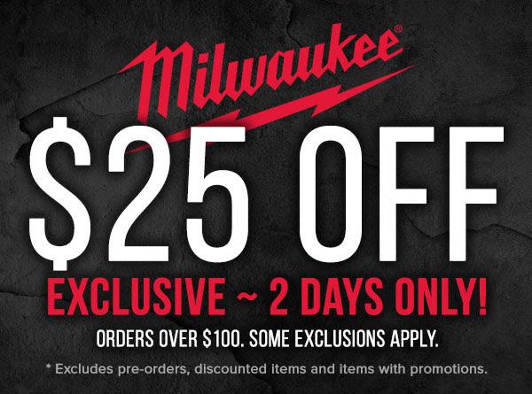 Milwaukee Tool Flash Sale Pre-Black Friday 11-26-19