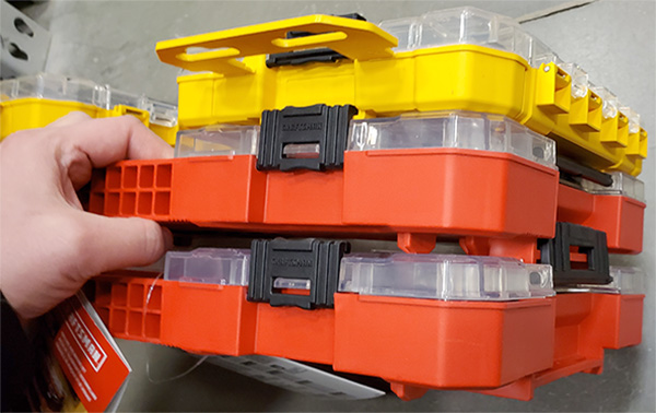 Craftsman and Dewalt ToughCase Plus Bit and Blade Storage Boxes Stacked