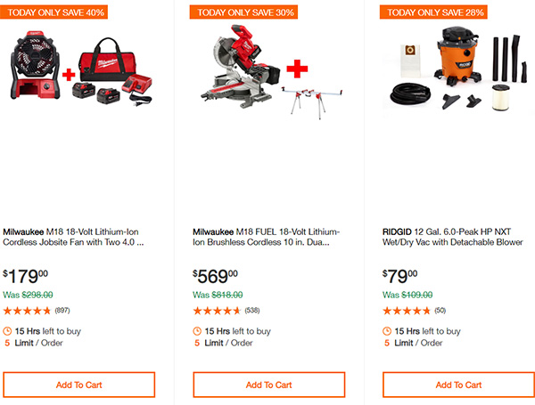Home Depot Cordless Power Tool Deals of the Day 12-16-19 Page 10