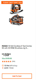 Home Depot Cordless Power Tool Deals of the Day 12-16-19 Page 5