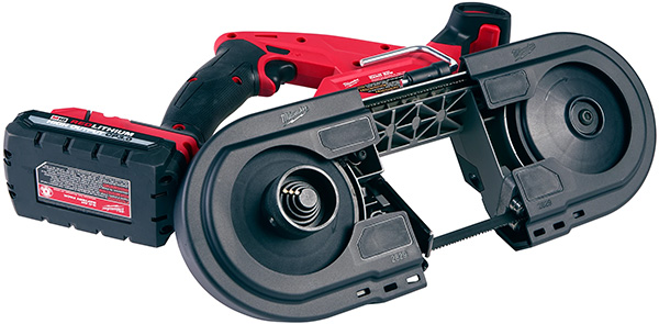 Milwaukee 2829 M18 Fuel Compact Band Saw Right of Guard