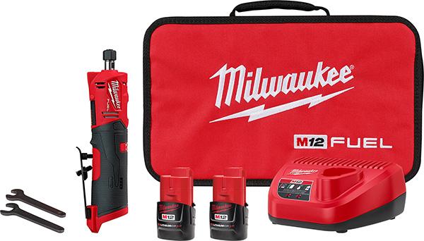 Milwaukee 2486-22 M12 Fuel Straight Die Grinder Kit