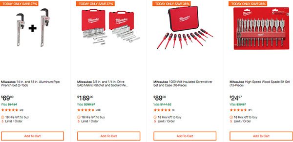 Milwaukee Cordless Power Tools Hand Tools Deal of the Day 2-24-20 Page 10