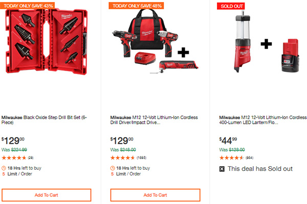 Milwaukee Cordless Power Tools Hand Tools Deal of the Day 2-24-20 Page 11