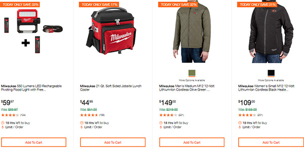 Milwaukee Cordless Power Tools Hand Tools Deal of the Day 2-24-20 Page 13