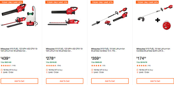 Milwaukee Cordless Power Tools Hand Tools Deal of the Day 2-24-20 Page 2