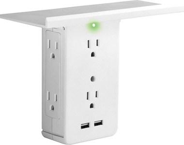 Socket Shelf Outlet Adapter Sharper Image