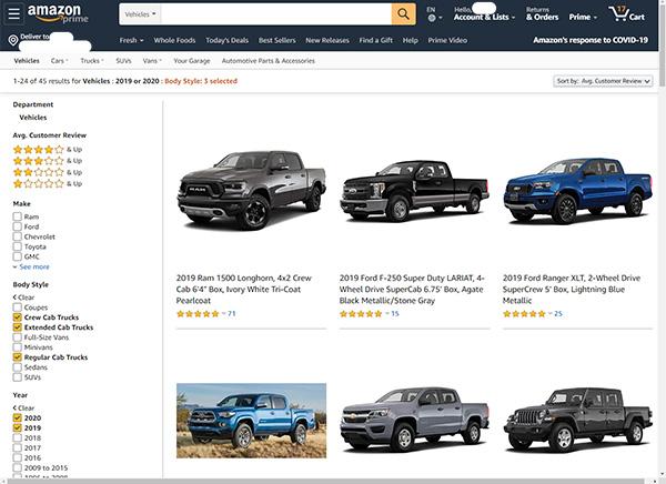 Amazon Car Shopping