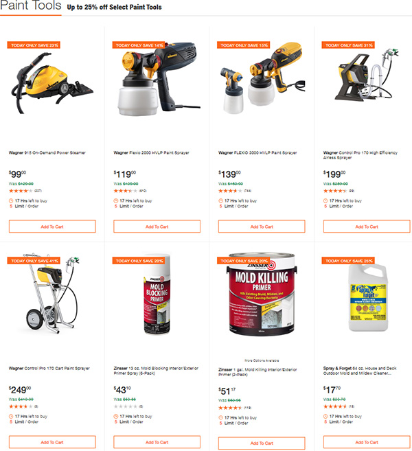 Home Depot Painting Tools Deals of the Day 3-3-2020