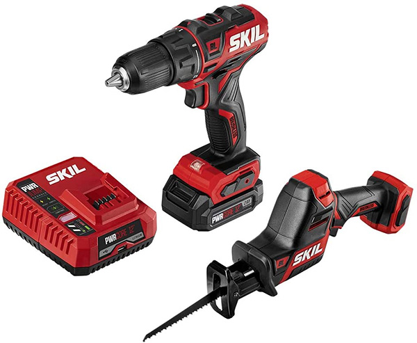 Skil Compact 12V Reciprocating Saw and Drill Kit