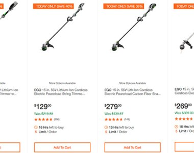 Ego Cordless String Trimmers Deal Home Depot 5-26-20
