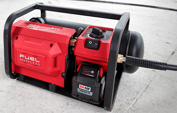Milwaukee 2840-20 Cordless Air Compressor with Hose Attached