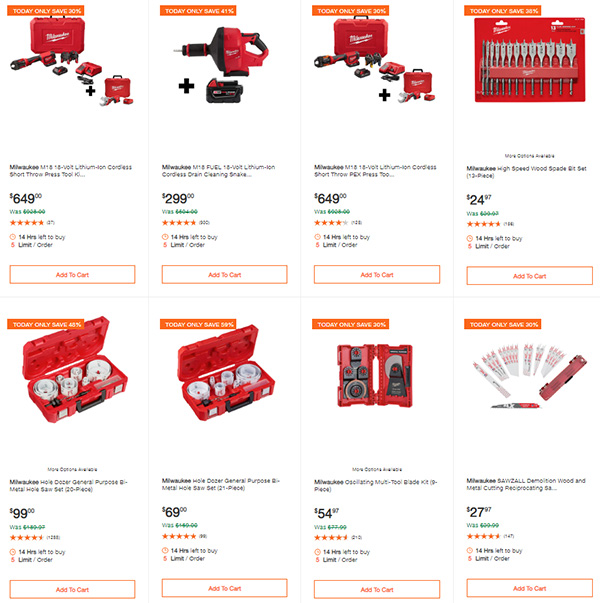Home Depot Milwaukee Dewalt Tool Deals of the Day 6-8-20 Page 4