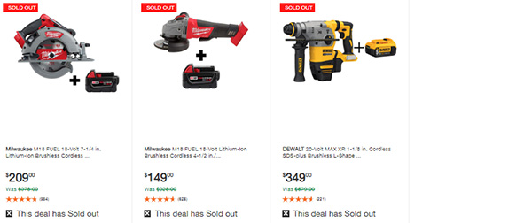 Home Depot Milwaukee Dewalt Tool Deals of the Day 6-8-20 Page 9