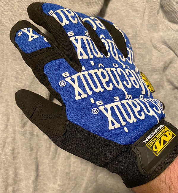 Mechanix Work Glove After Being Washed