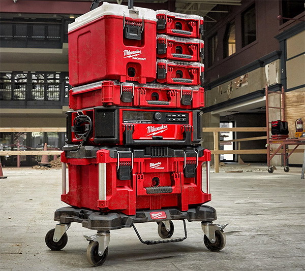 Milwaukee Packout Cooler Tool Box on Top of Stack