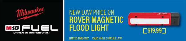 Milwaukee Tool Flash Sale 6-6-2020 Rover AA Worklight