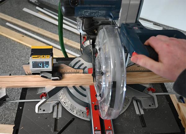 Reekon M1 Caliber Miter Saw Accessory on a Miter Saw