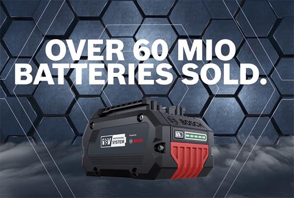 Bosch 18V Cordless Power Tool Alliance - Batteries Sold