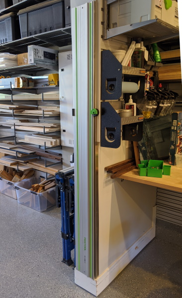 Fastcap Track Saw Rack - Mounted Vertically
