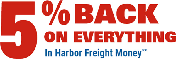 Harbor Freight Credit Card Cash Back Offer