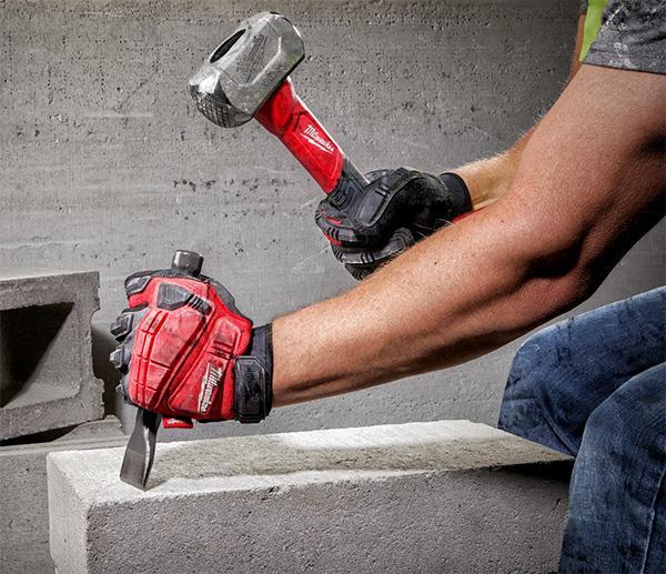 Milwaukee 3lb Drilling Hammer Fiberglass Handle Striking Masonry Chisel