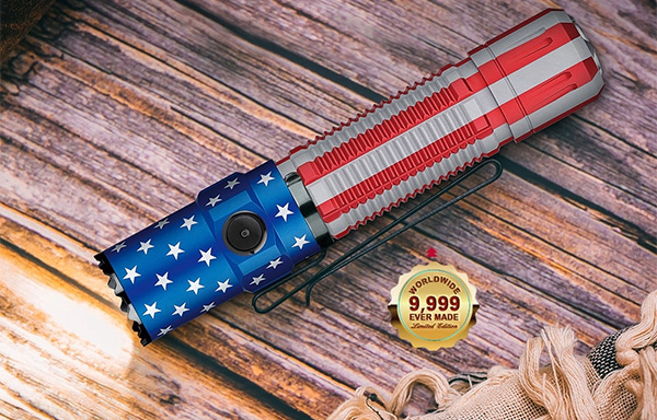 Olight Flashlight Flash Sale 7-20-20 M2R Pro Warrior Patriotic Edition