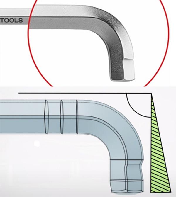 PB Swiss 90-100 Hex Key Tip Closeup