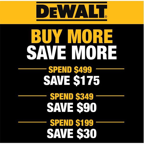 Dewalt Buy More Save More Home Depot Tool Deal