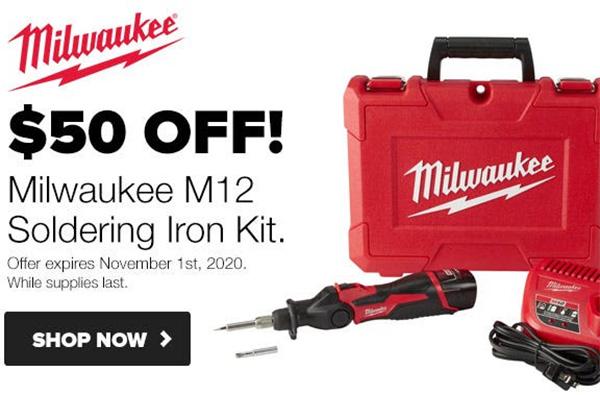 Milwaukee 2488-21 M12 Soldering Iron w// LED Light /& 1 Battery Kit FREE SHIPPING!