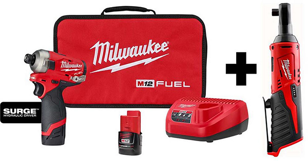 Milwaukee M12 Fuel Surge Impact Driver and Ratchet