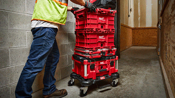 Milwaukee Packout Tool Box Stack on Dolly