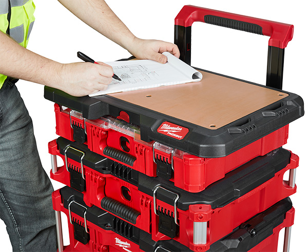 Milwaukee Packout Work Surface Attached to Tool Box