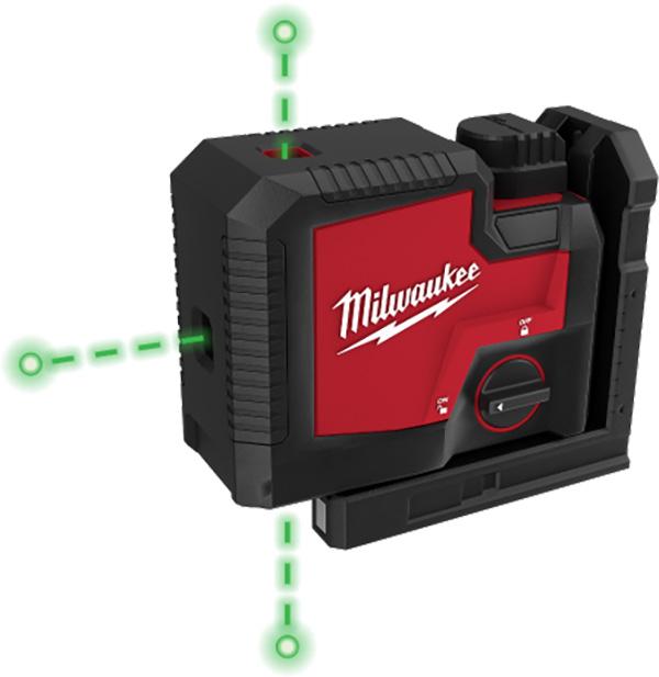 Milwaukee RedLithium USB 3 Point Laser Beams