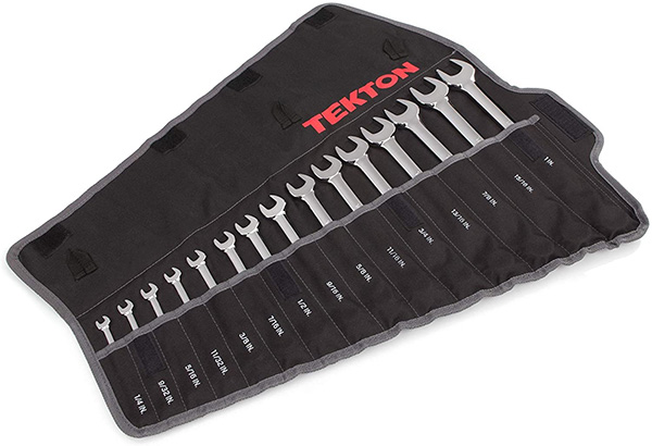 Tekton Wrench Set in Roll-up Case