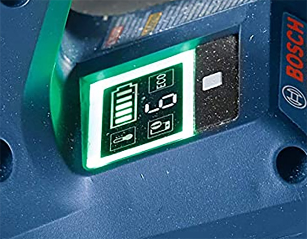 Bosch BitTurbo 18V Cordless Circular Saw GKS18V-25GCN User Interface