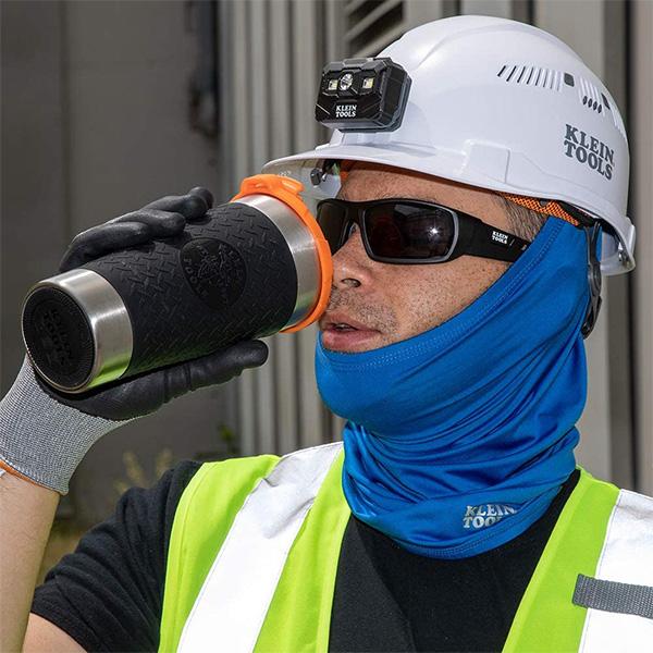 Klein Tradesman Tumbler with Worker Drinking