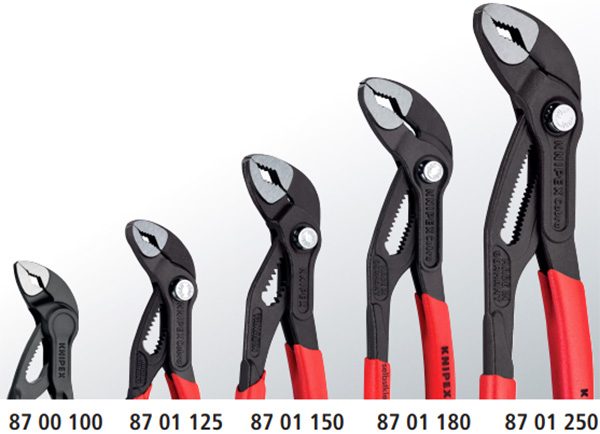 Knipex Cobra SX Adjustbale Pliers Size Comparison