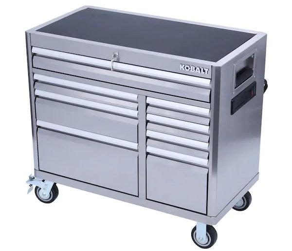 Kobalt 41 inch Stainless Steel Tool Cabinet