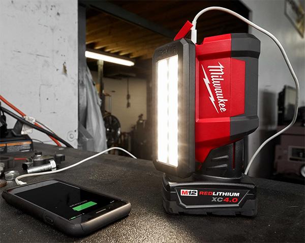 Milwaukee M12 Rover LED Flood Light 2367-20 USB Recharging