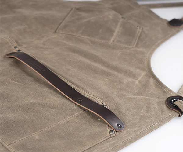 New Waterfield Workshop Apron Brown Canvas Pockets