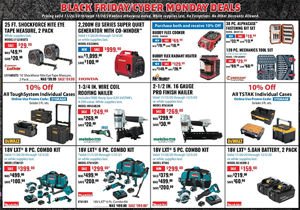 Acme Tools Black Friday 2020 Tool Deals Page 3