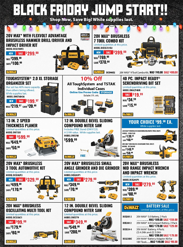 Acme Tools Early Black Friday 2020 Tool Deals Page 1