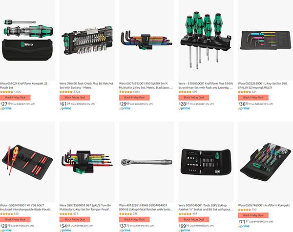 Amazon Black Friday Deal Wera Hand Tools 2020