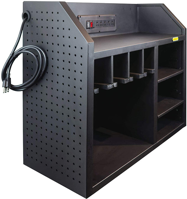 General Tools CS1 Wall Power Tool Storage and Charging Station Left Side Pegboard