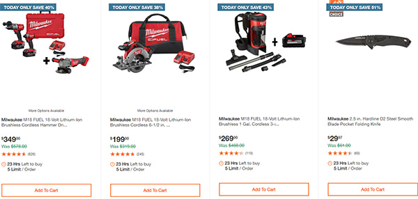 Home Depot Milwaukee Tool Deals of the Day 11-26-2020 Page 2