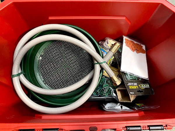 Husky Professional Storage Bin Partially Filled